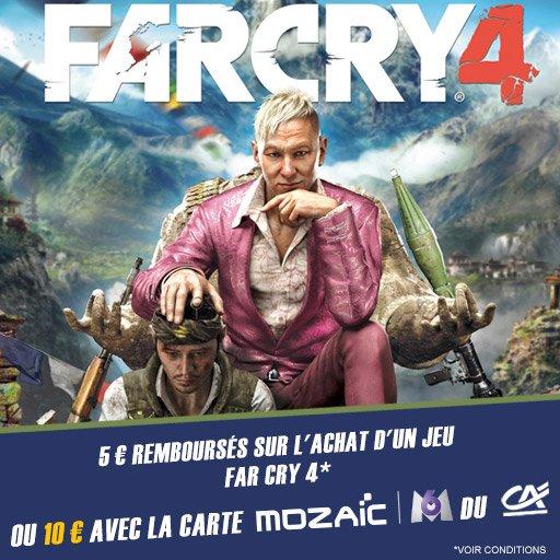 Profitez de 10¤ remboursés sur le jeu Far Cry 4 !
