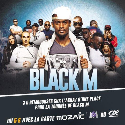 Récupère jusqu'à 5¤ en cashback sur ta place pour le concert de Black M !
