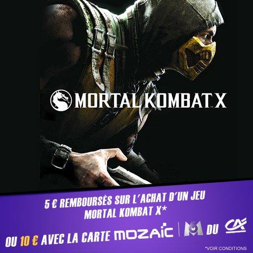 Bénéficie de jusqu'à 10¤ sur ton achat du jeu Mortal Kombat X sur PS4 !