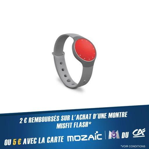Jusqu'à 5¤ remboursés sur la montre Misfit Flash !