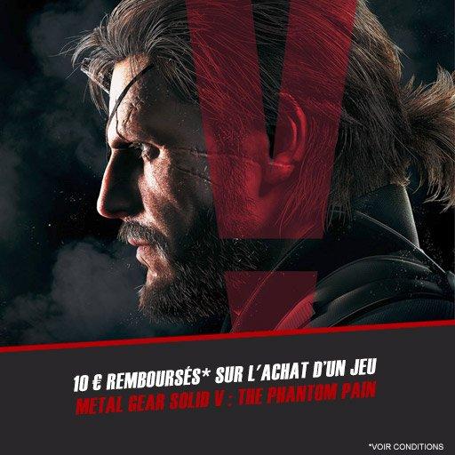 Fais toi rembourser 10¤ sur le jeu Metal Gear Solid V : The Phantom Pain !