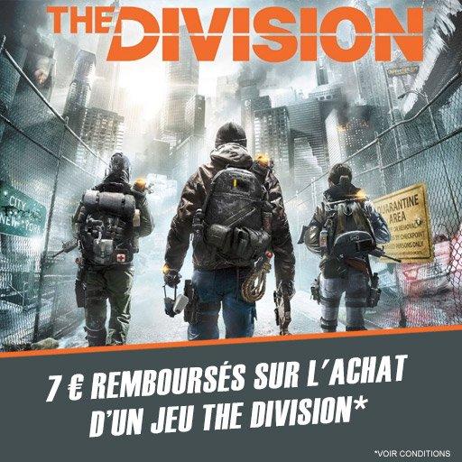 7¤ en cashback sur le jeu The Division !