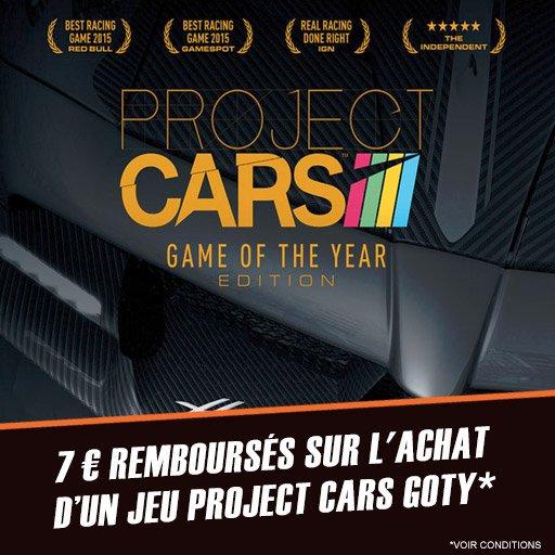Et hop ! 7¤ à récupérer sur l'achat de Project Cars Goty !