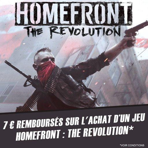 Profite de 7¤ remboursés sur Homefront - The revolution !