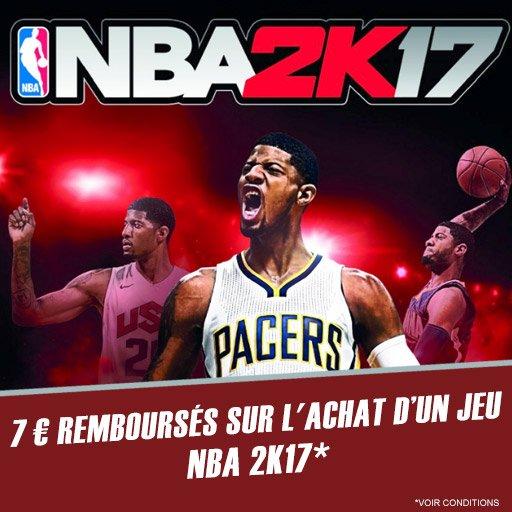 Skyrock Cashback te rembourse 7¤ pour l'achat du jeu NBA 2K17 !
