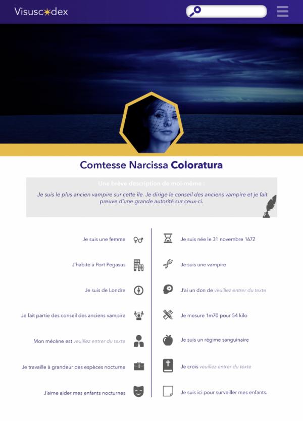 Comtesse Narcissa Coloratura (PNJ)