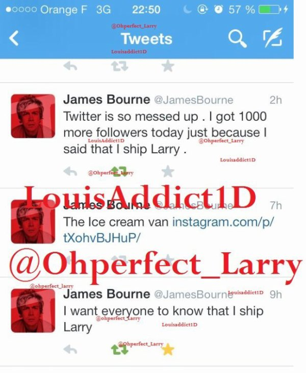 James Bourne confirme Larry !!!?