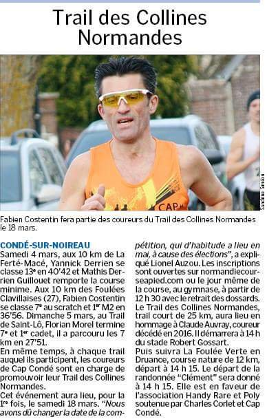Le trail des collines Normandes = J-7 !