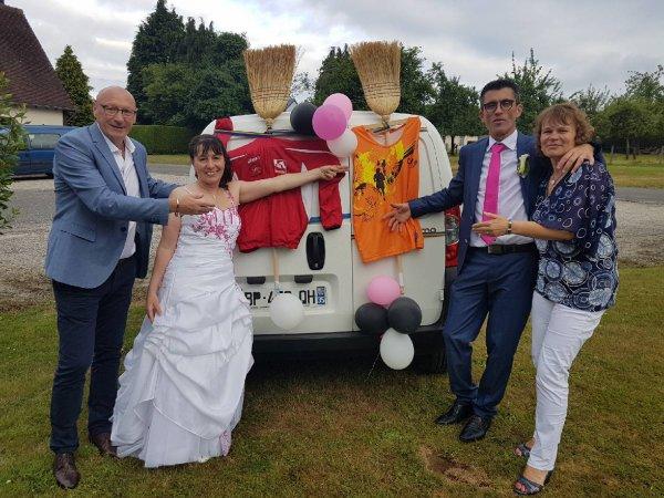 Grande Joie et forte émotion : Félicitation aux jeunes mariés & merci la Capie !