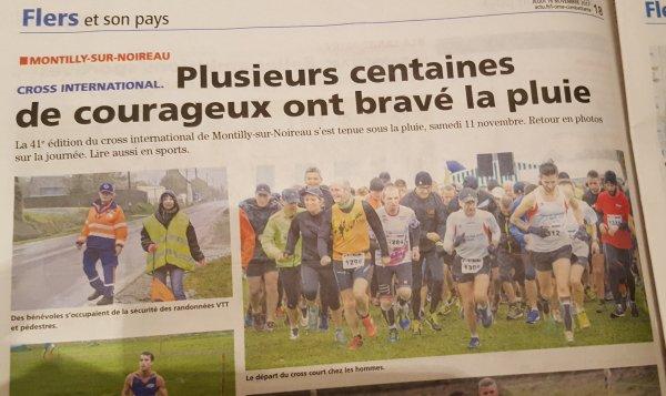 Montilly notre fidèlité saluée par les médias...Bravo pour la capie à Briouze   !