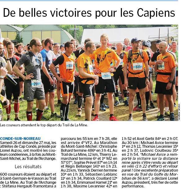 Remise portable ! Trail de l'Archange, marathon du Mont St Michel  et Trail de la Mine...