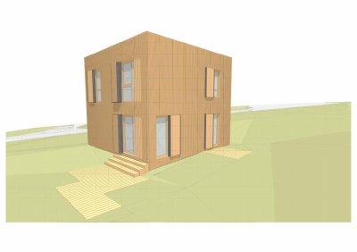 24/04/09 : Après le rêve, voici le projet accessible pour l'instant : une maison cube...