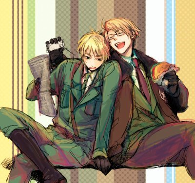 「Axis Power Hetalia」- UK X USA 2