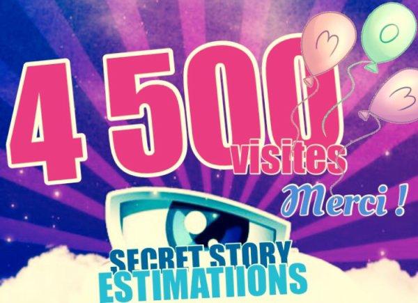 4 500 VISITES ! MERCI !