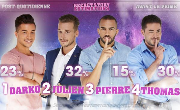 ESTIMATIONS : Darko - Julien - Pierre - Thomas