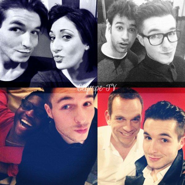 Quelques photos de Olympe avec les autres candidats de The Voice   Olympe-TV