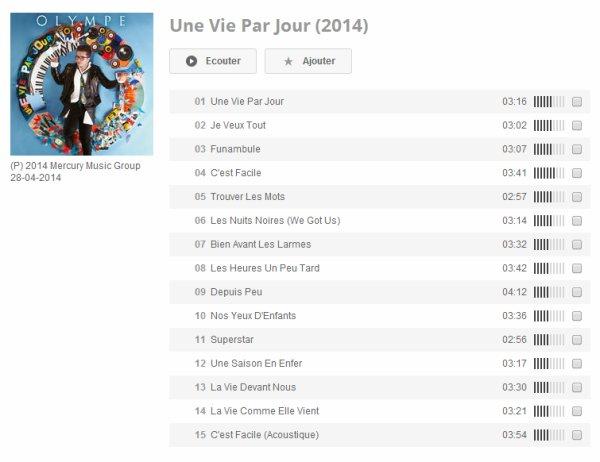 "Album ""Une vie par jour""   Olympe-TV"