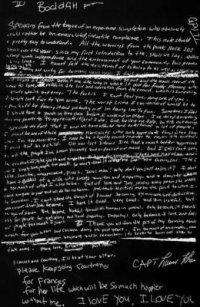 Lettre de !kurt !Cobain avant sa mort