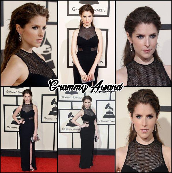 15 Février 2016 : La belle Anna était aux GRAMMY Awards, vétu d'une superbe robe noir. Je trouve anna vraiment superbe dans cette tenue, de plus j'aime beaucoup son maquillage et sa coiffure. Elle nous fait un beau gros TOP, vos avis ?