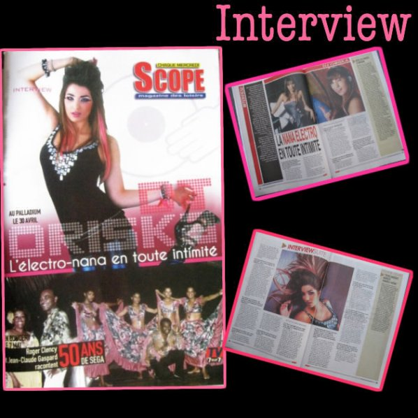 En couverture Du Magazine Scope + 4 Pages d'interview 27 avril - 3 Mai 2011 (Ile Maurice)