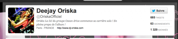 Oriska sur Twitter ;)