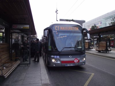 Inauguration de l'extension de la C1 à Lyon