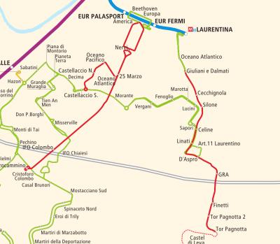 Extension du réseau en cours à Rome (Italie)
