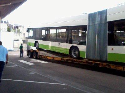 Essais de trolleybus à Limoges