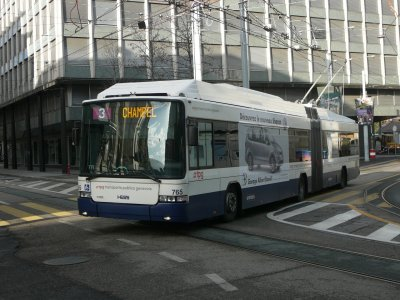Appel d'offres pour 33 trolleybus articulés Genève (Suisse)