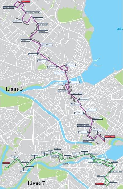 2 lignes à nouveau changées à Genève (Suisse)