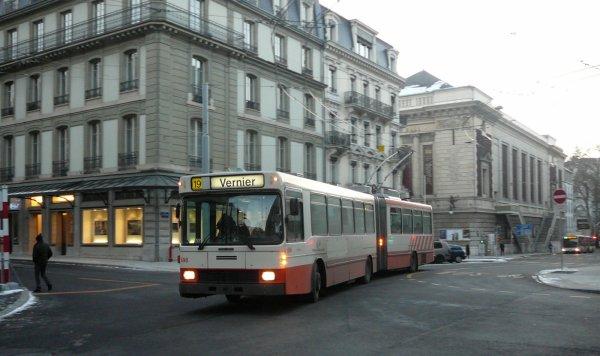 70 ans de trolleybus à Genève (Suisse)