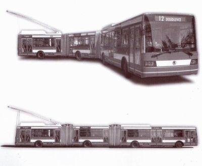 Peut-être un trolleybus de 25m chez Skoda