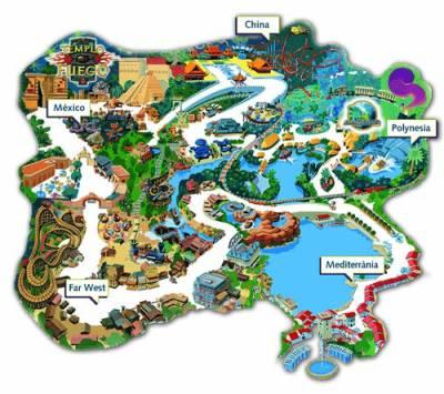 Le plan du parc port aventura 123 nissa un ni ois qui - Port aventura plan ...