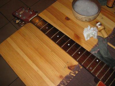 Grand nettoyage de ma guitare 2éme partie