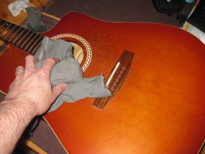 Grand nettoyage de ma guitare 3 éme partie