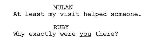 Mulan and Ruby