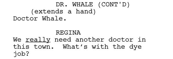 Dr Whale and Regina