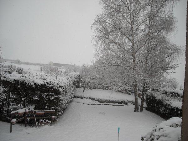 La Meuse sous la neige.