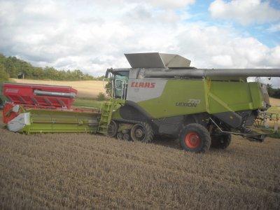 Chantier de blé en grande largeur.
