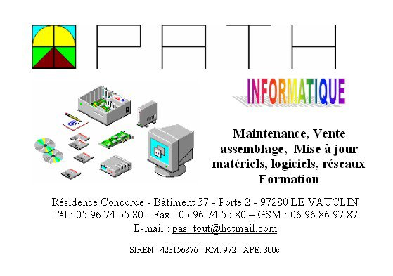 PATH informatique - 97280 LE VAUCLIN