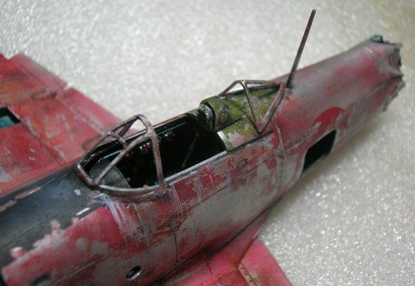 """Nakajima Ki84 Franck en mode """"épave"""""""
