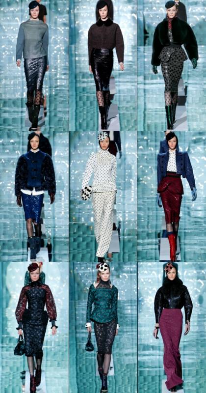 petit aperçu du défilé Marc Jacobs Automne/hiver 2011-2012