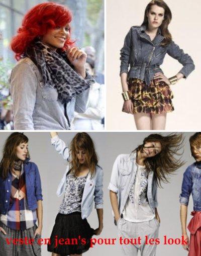 veste en jean's pour tout les style