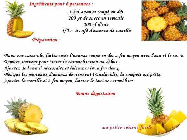 Compote à l'ananas