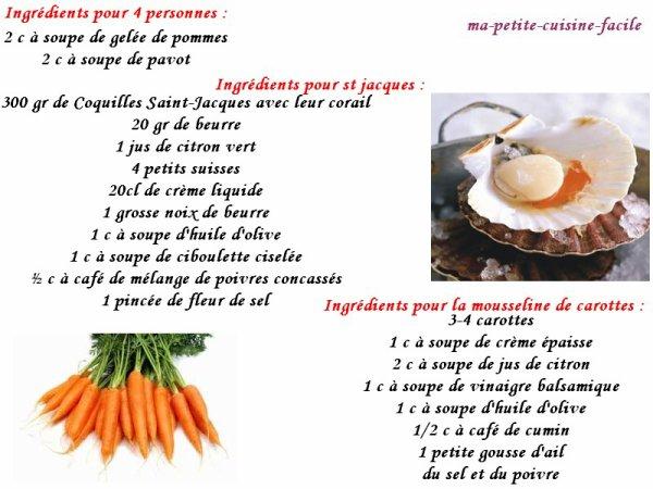 Verrine de st jacques et carottes