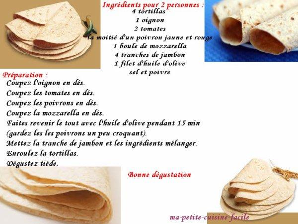Tortillas gourmande