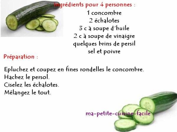 Concombre à la vinaigrette
