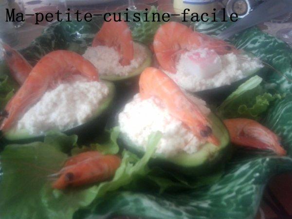 Avocat à la miette de crabe