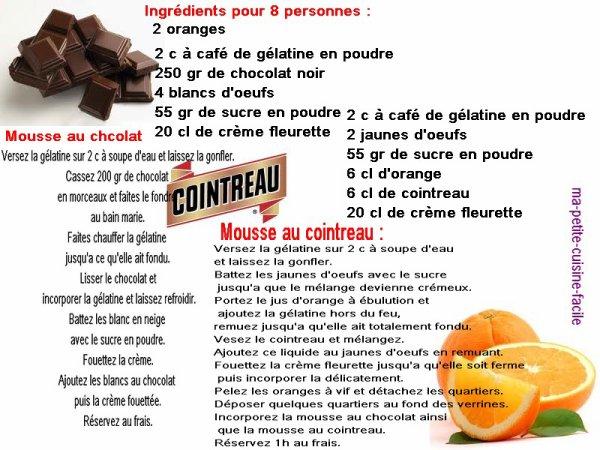 Duo de mousses chocolat cointreau
