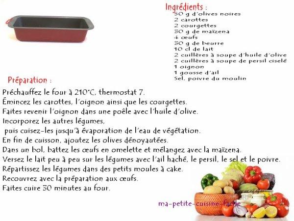 Mini cake aux légumes
